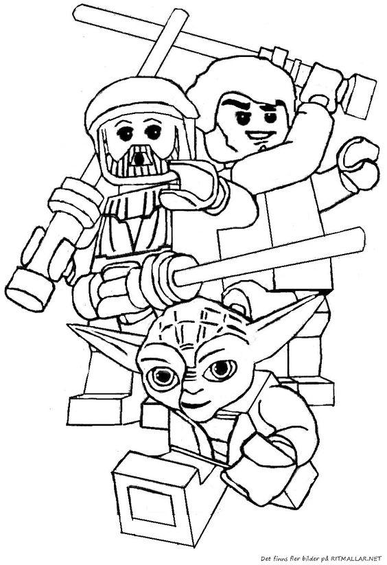 Färglägg Lego Star Wars Yoda - Ritmallar. | Stars Wars ides ...