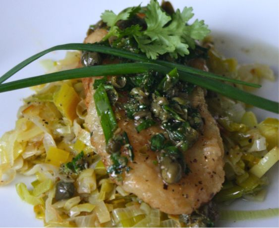 Bake Bellissima – Genius Sea Bass with Leeks and Herb Vinaigrette Recipe