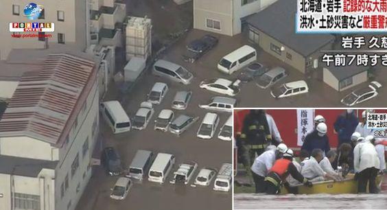 Norte e Nordeste do Japão sofreram inundações e desmoronamentos devido a passagem do Tufão N10.