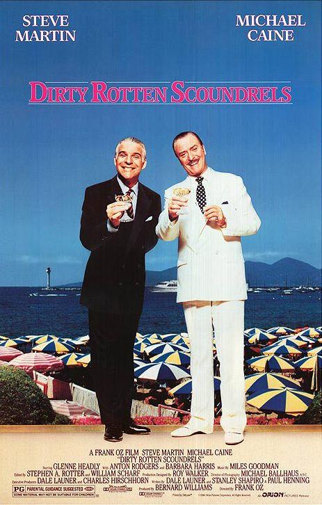 Dirty Rotten Scoundrels - 1988 - Steve Martin & Michael Caine - http://johnrieber.com