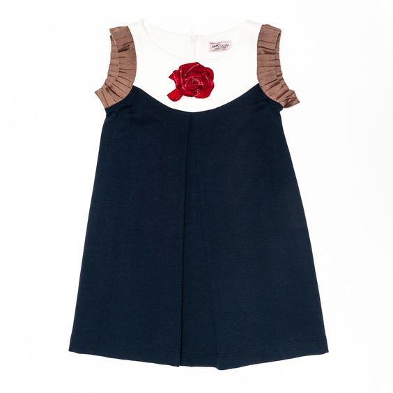 Monnalisa Childrenswear | Punto Milano sleeveless dress | Dress&Jumpsuit | Shop On Line Sales