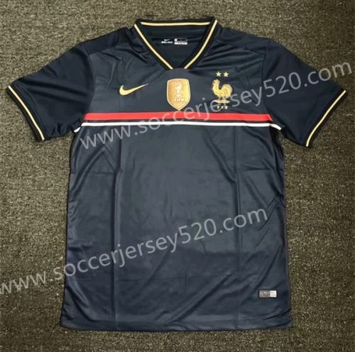 2019 2020 France Home Blue Thailand Soccer Jersey Aaa 407