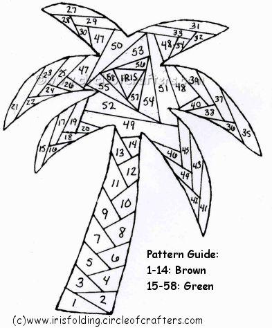 how to make iris folding patterns