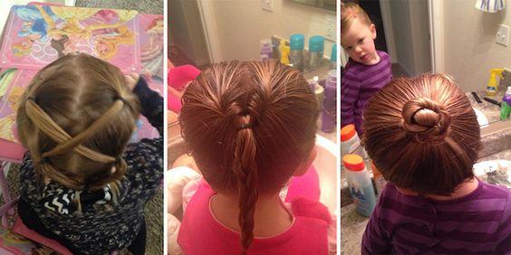 Ce papa célibataire ny connaissait rien en coiffure pour sa fille alors il a pris des cours