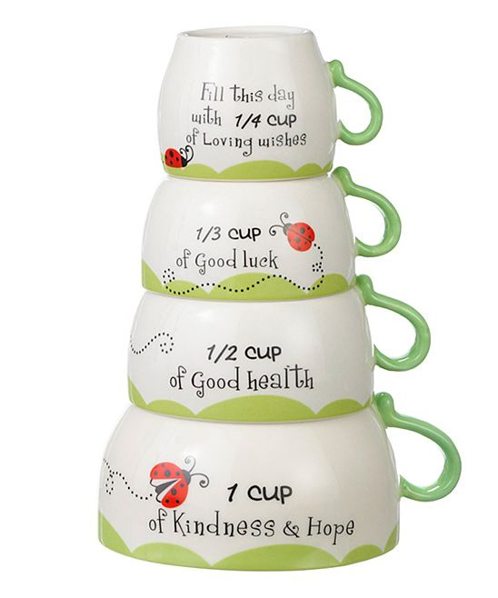 Ladybug Four-Piece Measuring Cup Set