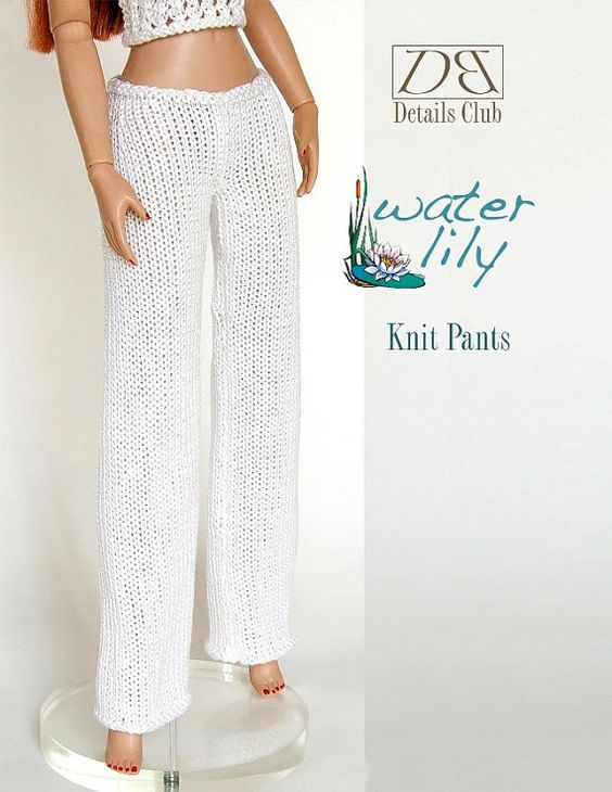 """Knitting pattern for 16"""" doll (Tyler Wentworth): Knit Pants"""