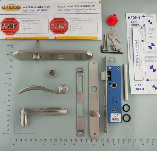 This Handle And Lock Kit Includes All The Necessary Items Needed To Replace Your Mortise Hardware On Your Lar Storm Door Hardware Larson Storm Doors Storm Door