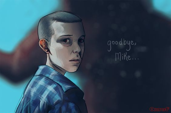 """""""Goodbye, Mike"""" (Eleven from Stranger Things by Octipuff)"""