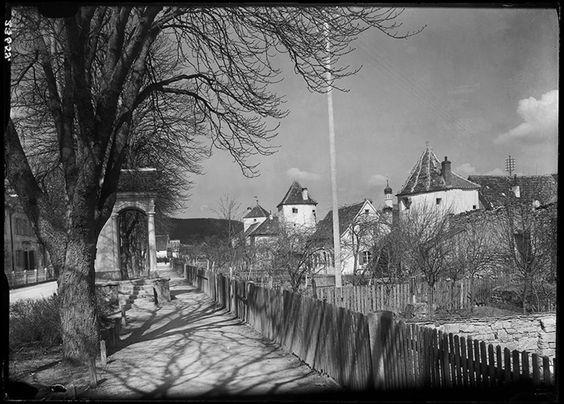 Blick auf die westliche Stadtmauer mit Strohbauern-, Wasserschöpfer- und Sauhüterturm