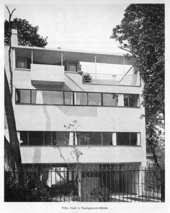 Villa cook 1926 boulogne sur seine le corbusier arq for Architecture petite villa