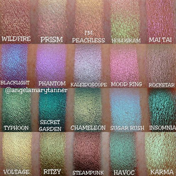 Makeup Geek Duochrome Pigment And Eyeshadow Swatches Full Collection Makeup Geek Eyeshadow Duochrome Eyeshadow Makeup Geek