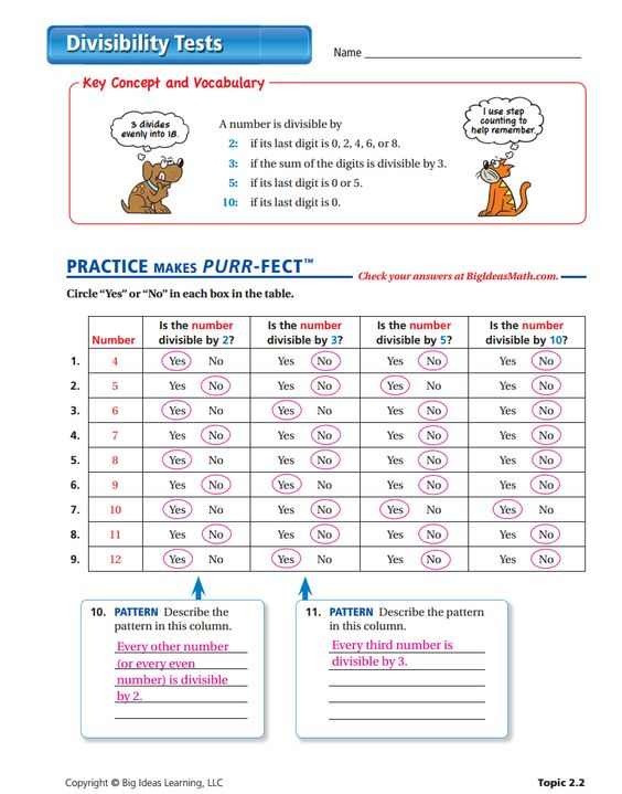 math worksheet : divisibility tests worksheet answers factors and ...