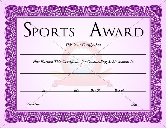 Sport Certificate Templates Search Templates And Sports On Pinterest