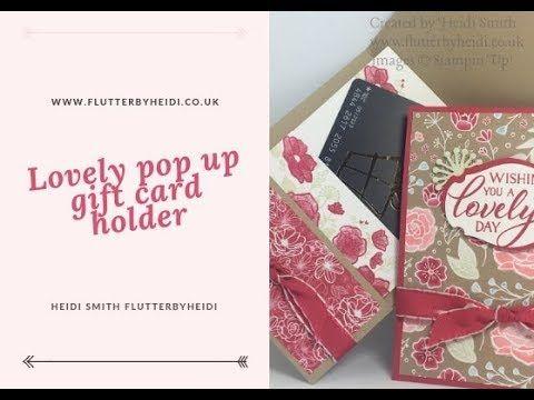 164 Lovely Pop Up Gift Card Holder Youtube Gift Card Holder Gift Cards Money Card Making Templates