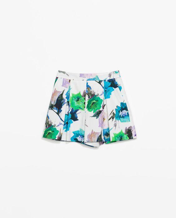 PRINTED SHORTS from Zara