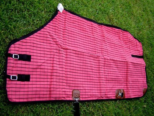 "winter horse blankets | 76"" Canvas Turnout Horse Duck Winter Blanket With Wool Lining Pink"