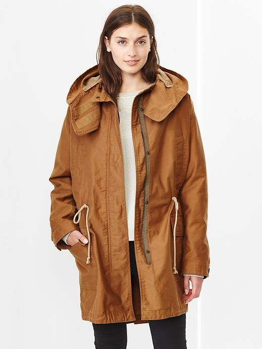Womens brown parka coats