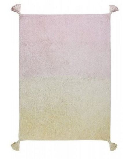 Lorena Canals Vanilla and Rose Ombre Rug