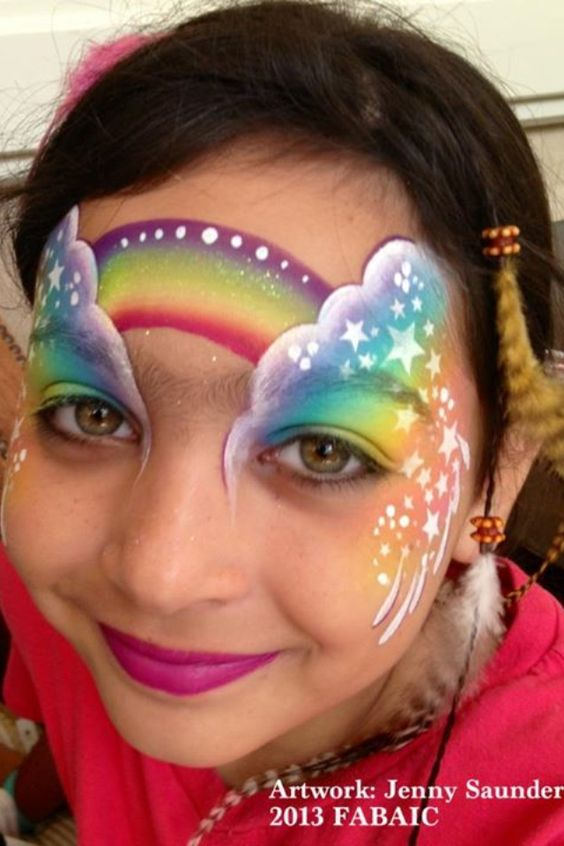 Rainbow Face Painting | Facepainting Rainbows | Pinterest ...