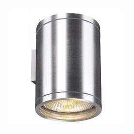 SLV Lighting Rox 8-in H Silver Grey Outdoor Wall Light