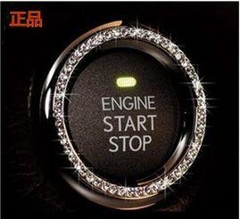 Interruptor de encendido DEL COCHE decoración Anillo de la Etiqueta Engomada PARA PEUGEOT 206 207 307 308 407 408/Citroen C2 C3 C4 C5 C6 C4L accesorios(China (Mainland))