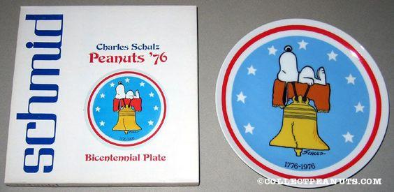 Peanuts Bicentennial Plate