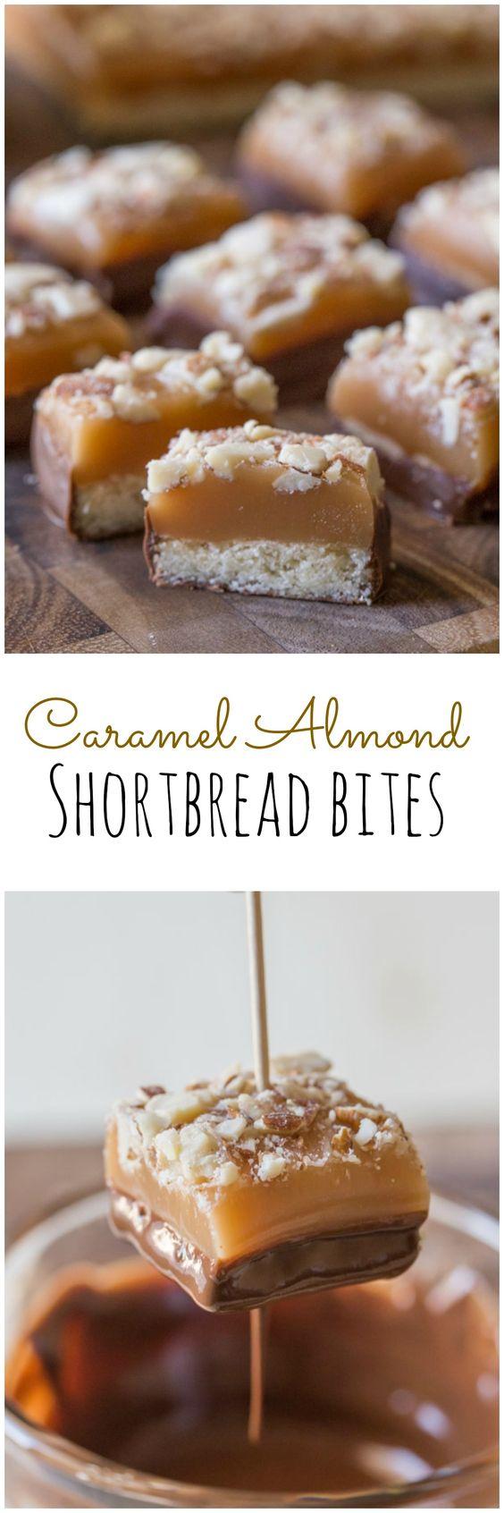 Homemade Almond Caramel Shortbread Bites | Recipe ...