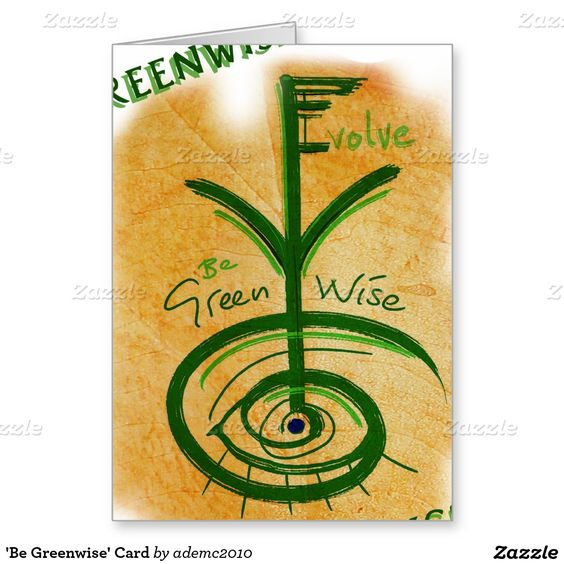 'Be Greenwise' Card #evolution