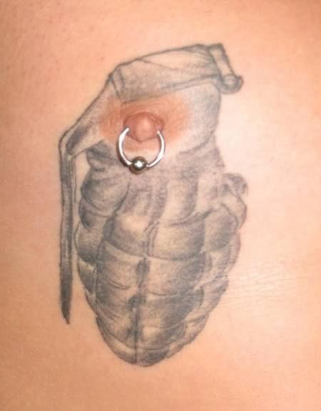 Bilderesultat for wtf nipple tattoo and piercing