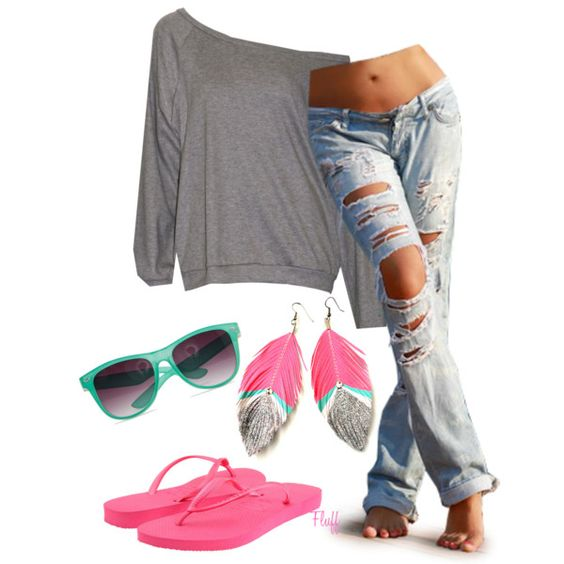 """windy beach"" by fluffof5 on Polyvore/Love it alll except the goggles and earrings. :)"