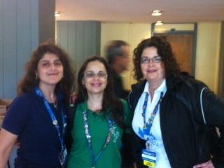 Women In Retail Region 3's Team Leader Meredith with Walmart women from around the world.[2012]