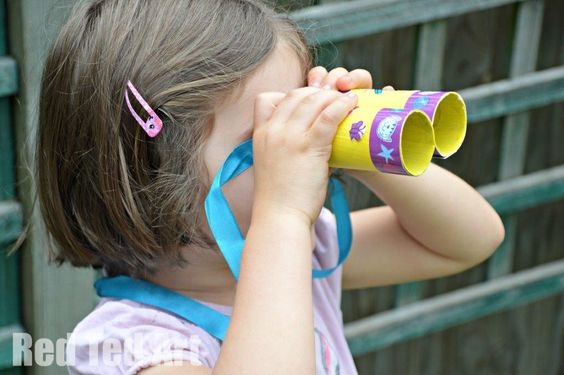 TP Roll Binoculars - let's go explore with Poppy Cat!