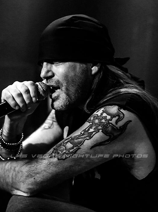 Danny Koker, from the Hit Cable TV Show, 'Counting Cars', singing with his Band,  'Count's 77', at his club, 'Vampd' in Las Vegas