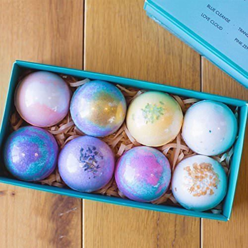 Bath Bombs Set 8 Luxury All Vegan Bubble Gift Lush Fizzies Spa Bath Bomb Kit Christmas Bath Bombs Bath Bomb Gift