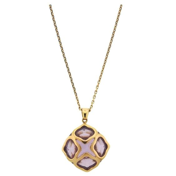 Chopard Imperiale Amethyst Gold Pendant Necklace