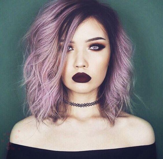 Resultado de imagen para peinados tumblr con pelo de colores