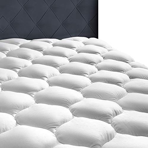 """MASVIS Queen Mattress Topper With 8-21"""" Deep Pocket-2"""" Thick Double Queen White"""