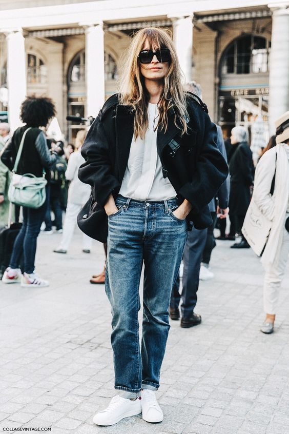 boyfriend jeans + boyfriend jeans- paris fashion week: