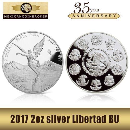Bullion 2017 2 Oz Silver Mexican Libertad Proof Coin Treasure Coin Of Mexico Coin Collectible Treasure Coin Proof Coins Libertad