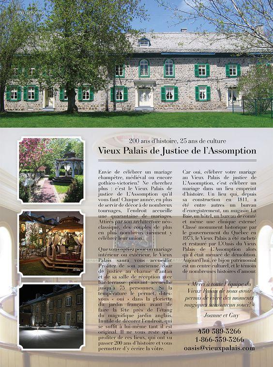 Mariage champêtre au Vieux Palais de Justice de L'Assomption