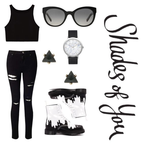 """Shades of You: Sunglass Hut Contest Entry"" by kytzt-laly ❤ liked on Polyvore featuring Dr. Martens, Miss Selfridge, Burberry, Elwood and shadesofyou"