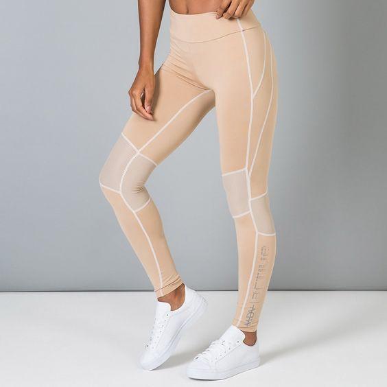 Compression Legging, Fitness Legging, Mesh Panelled Legging, High-Waisted Gym…