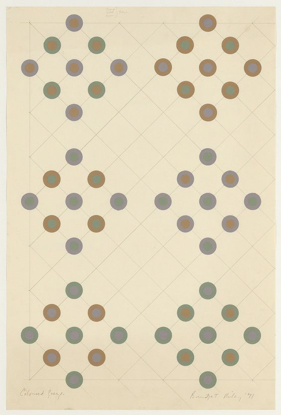 Bridget Riley, Coloured Greys, 1971