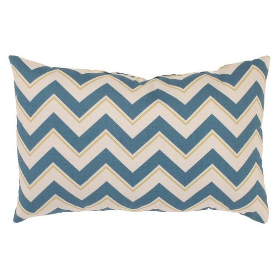 Chevron Toss Pillow Collection - Seaport