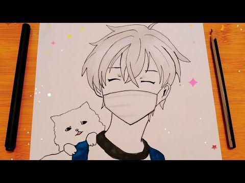 رسم سهل رسم انمي ولد يرتدي كمامة بطريقة سهلة جدا للمبتدئين رسم انمي كيوت رسومات سهلة للمبتدئين Youtube Anime Drawings Boy Cute Drawings Drawings