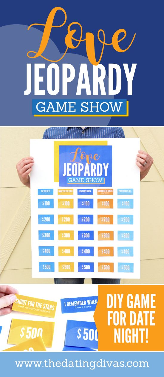 Diy Jeopardy Game For Couples From Date Night Ideas