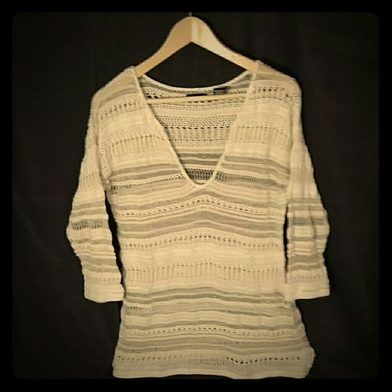 Victoria's Secret/Moda summer sweater or cover-up Gently used, one small pull on the threads that isn't visible on the outside. Moda International Sweaters V-Necks