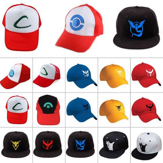 Pokemon Go Équipe Mystic Instinct Valor /Ash Ketchum Baseball Chapeau Casquette
