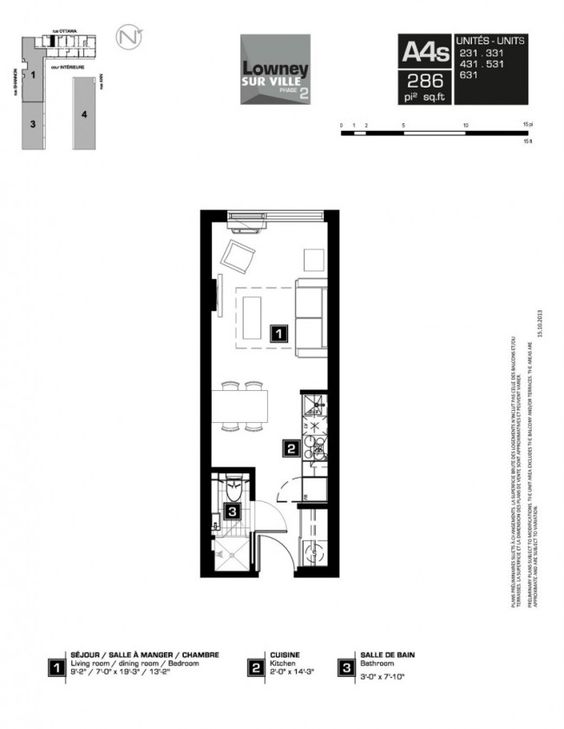 Lowney phase 3 Where to buy Montreal Lowney condominiums Pinterest - plan salon cuisine sejour salle manger