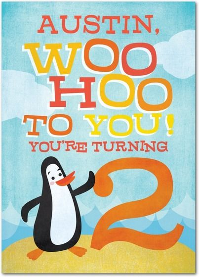 Two much fun – Personalized Kids Birthday Cards
